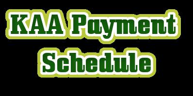 KAA payment schedule