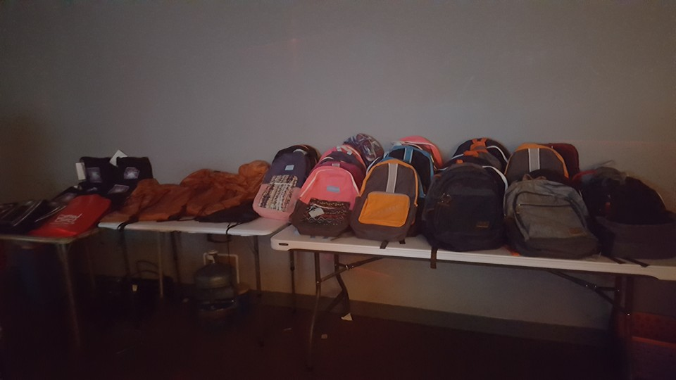 Youth Small group Backpack giveaway 2016